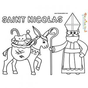 Saint Nicolas part avec son âne