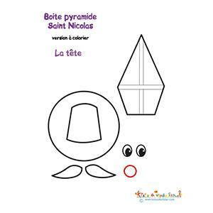 Tête de saint Nicolas pyramide pochette