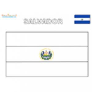 Coloriage du drapeau du Salvador