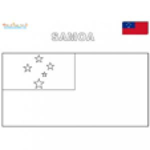 Coloriage du drapeau des Samoa