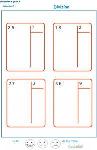 divisions sans reste  basées sur les tables de multiplication exercice 3