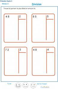 divisions sans reste  basées sur les tables de multiplication exercice 9