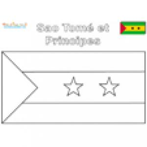 Coloriage du drapeau de Sao Tomé et Principe