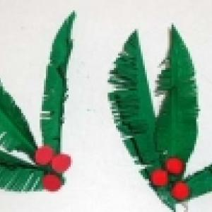 Branche sapin en papier