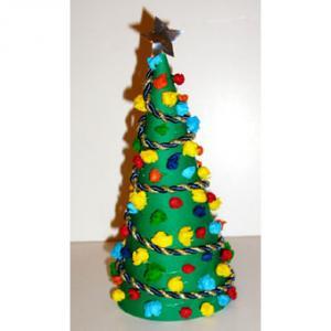 Fabriquer un mini - sapin de Noël