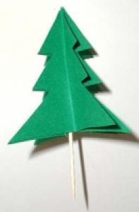 Sapin en papier pour la décoration