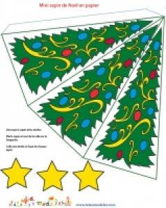 Sapin de Noël en papier à imprimer