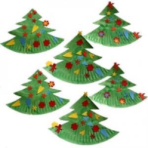 Sapin de Noël en assiette en carton