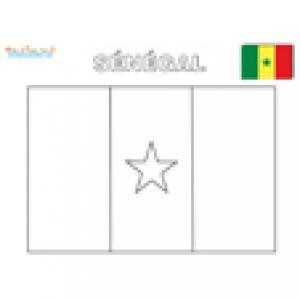 Coloriage du drapeau du Sénégal