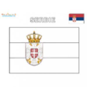 Coloriage du drapeau de la Serbie