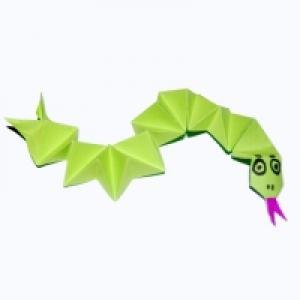 Serpent 3D en papier - origami
