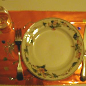 Set de table pour les fêtes de fin d'année