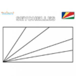 Coloriage du drapeau des Seychelles