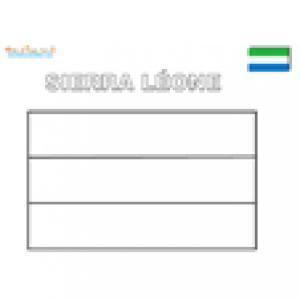 Coloriage du drapeau du Sierra Léone