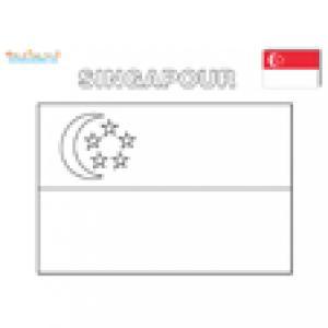 Coloriage du drapeau de Singapour