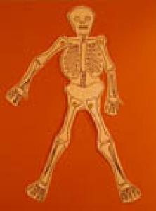 Bricolage d'Halloween : petit squelette animé