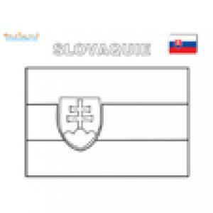 Coloriage du drapeau de Slovaquie