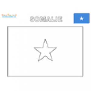 Coloriage du drapeau de la Somalie