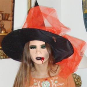 Maquillage sorcière d'Halloween