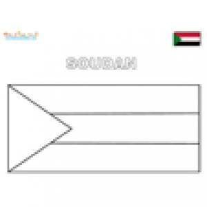 Coloriage du drapeau du Soudan