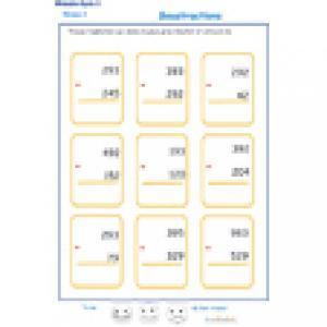 exercice 3 sur les soustractions niveau2 cycle 3