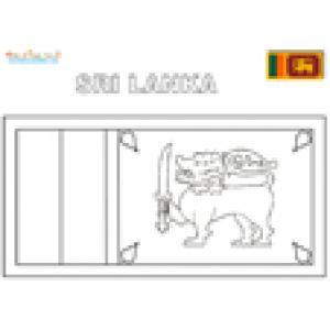Coloriage du drapeau du Sri Lanka