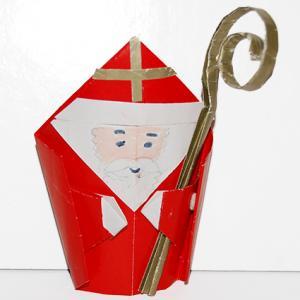 saint nicolas papier origami