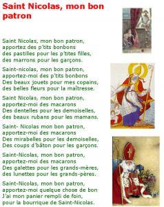 Saint Nicolas chanson mon bon patron