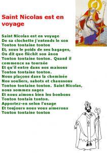 Saint Nicolas est en voyage