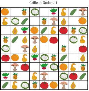 Sudoku pour la maternelle : grille 1