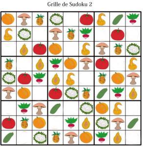 Sudoku pour la maternelle : grille 2