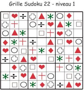 Sudoku 22 pour la maternelle