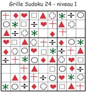 Sudoku 24 pour la maternelle