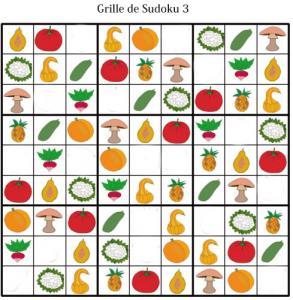 Sudoku pour la maternelle : grille 3