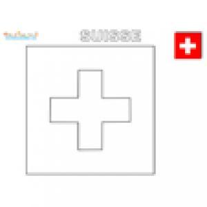 Coloriage du drapeau de la Suisse
