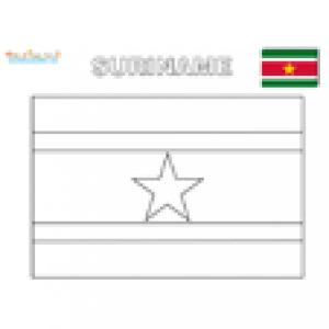 Coloriage du drapeau du Suriname