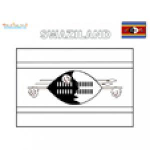 Coloriage du drapeau du Swaziland