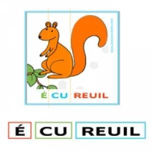 Retrouver les syllabes du nom des animaux