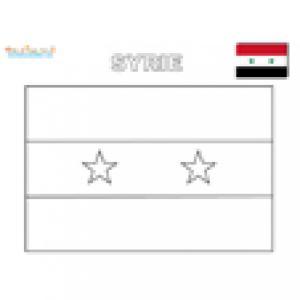 Coloriage du drapeau de la Syrie