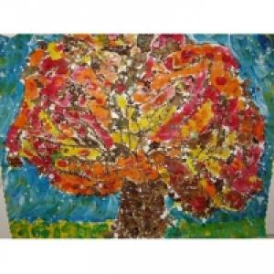 Peinture d'un tableau d'automne
