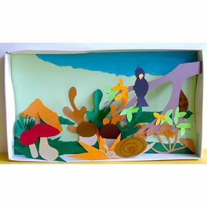 Réaliser un tableau d'automne dans une boîte à chaussures