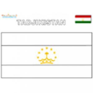 Coloriage du drapeau du Tadjikistan