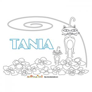 Coloriage pr&eacute&#x3B;nom Tania