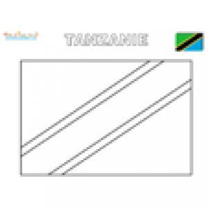 Coloriage du drapeau de la Tanzanie