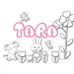 Coloriage prénom Tara