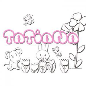 Coloriage prénom Tatiana