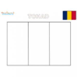 Coloriage drapeau du Tchad