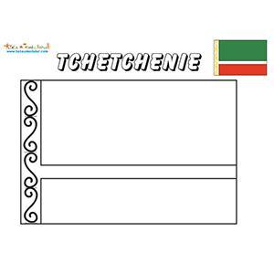 Coloriage du drapeau de la Tchétchénie