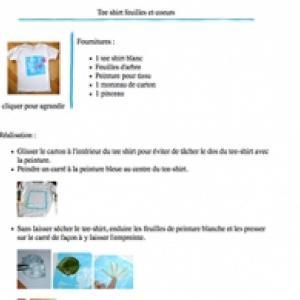 Tee shirt feuille et coeur à imprimer