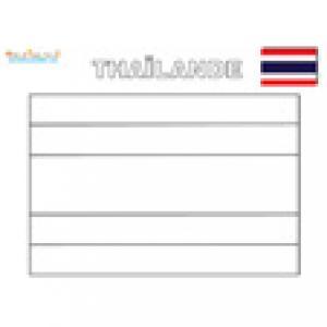 Coloriage du drapeau de la Thailande